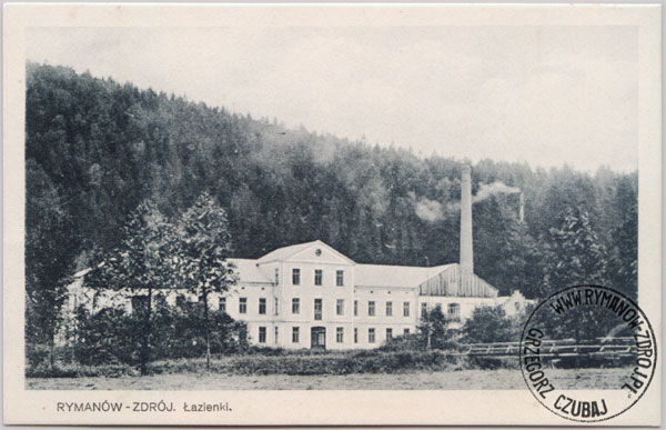 Łazienki rymanowskie po odbudowie (po 1914 roku).